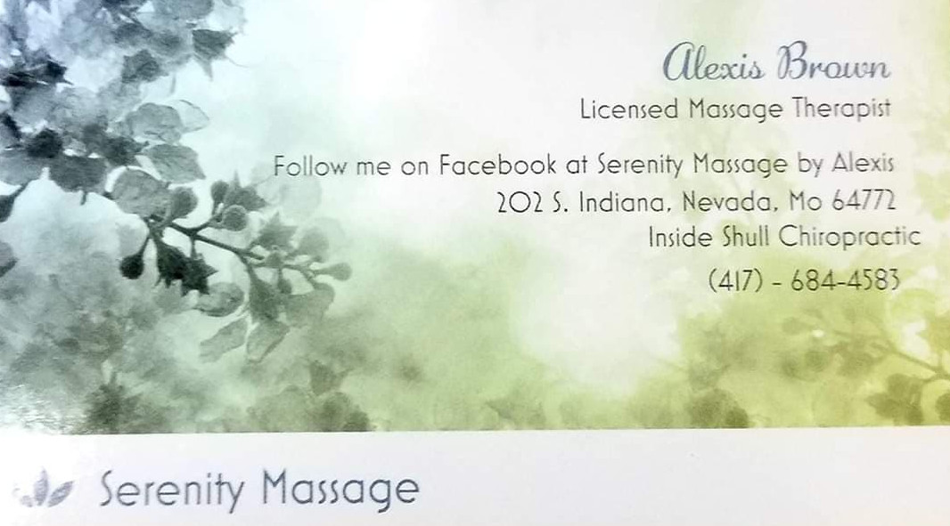 Serenity Massage by Alexis Brown